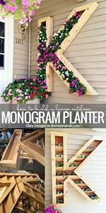Remodelaholic DIY Monogram Planter Tutorial
