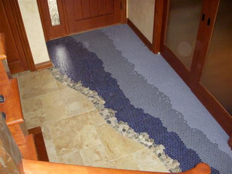 Lake house foyer   Eclectic   Entry   milwaukee   by Dragonfly Tile & Stone Works, Inc.