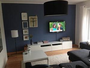 Grau Blaue Wand : wohnzimmer tags blau offenes wohnen wandfarbe in 2019 pinterest blaue couch wohnzimmer ~ Watch28wear.com Haus und Dekorationen