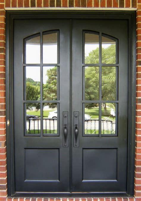iron divided light double door clark hall iron doors