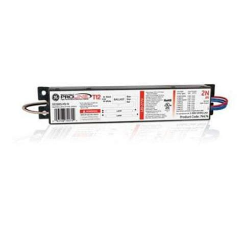 4 l t12 ballast home depot ge 120 to 277 volt electronic ballast for 8 ft 2 l t12