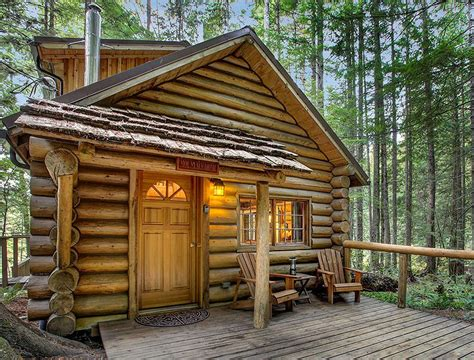 mt home log cabin deep forest cabins  mt rainier