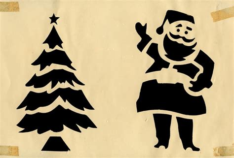 neato coolville two packs of 1950s christmas stencils