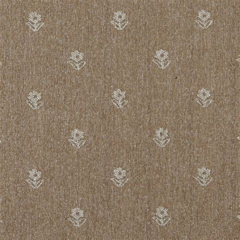 Country Upholstery Fabric by Light Brown And Beige Flowers Country Style Upholstery