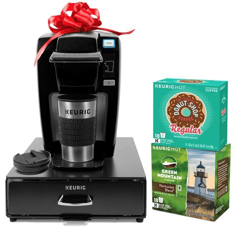It's one of the most affordable in the keurig. Keurig Single Serve Coffee Maker Bundle (with K-Cups, Travel Mug, and Storage Drawer) $79.99 ...