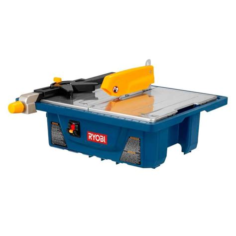 Ryobi Tile Saw Ws7211 ryobi 3 4 hp 7 in tile saw ws7211 the home depot
