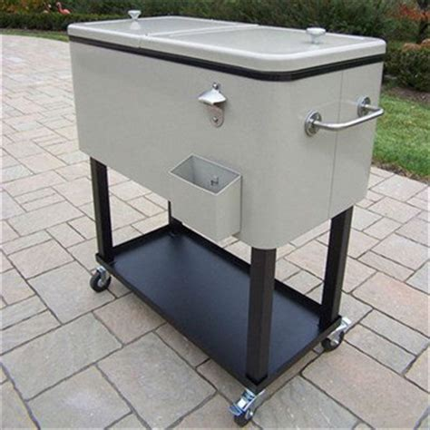 metal rolling patio mobile wine chest cart patio