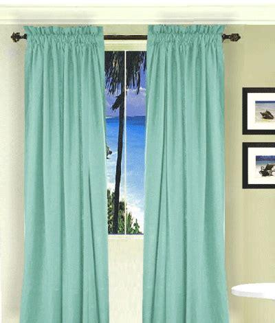 mint green curtain set