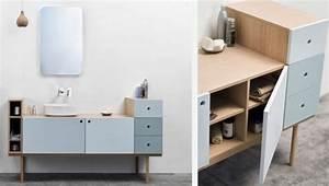 Meuble Style Scandinave : meuble salle de bain scandinave table de lit ~ Teatrodelosmanantiales.com Idées de Décoration