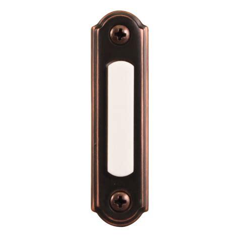 door bell button shop utilitech rubbed bronze doorbell button at lowes