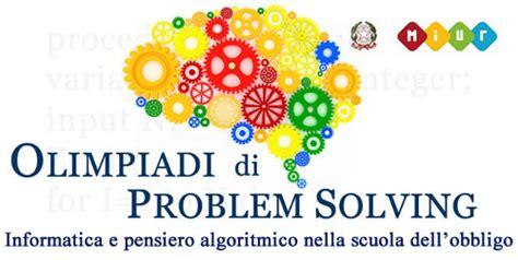 Ufficio Scolastico Regionale Umbria by Olimpiadi Di Problem Solving Informatica E Pensiero