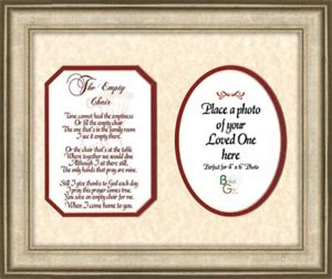the empty chair memorial poem frame gift in remembrance
