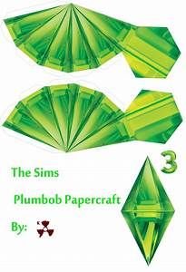 The sims plumbob papercraft by killero94 on deviantart for Sims plumbob template