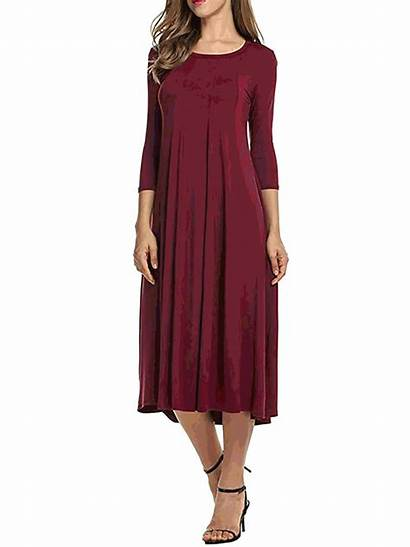 Cotton Sleeve Daily Summer Elegant Paneled Dresses
