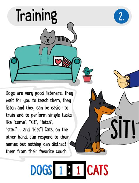 cats dogs than better why reasons infographic displayed awesome barks softer meows point general