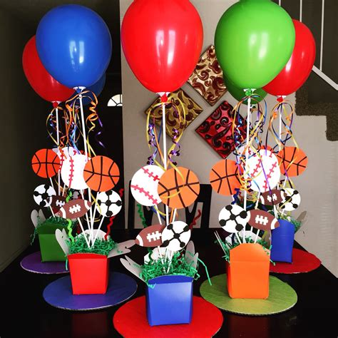 sports theme centerpieces diy st birthday diy