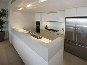 Modern galley kitchen design using stainless steel