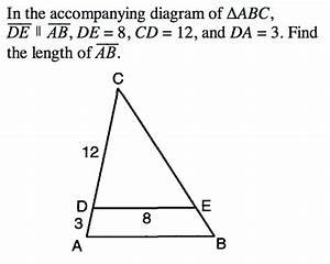 Solved  In The Accompanying Diagram Of Triangle Abc  De