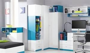 Rangement Chambre Ado : armoire de rangement d 39 angle pas cher jolly mobilier pour chambre enfant et ado ~ Voncanada.com Idées de Décoration