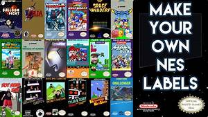 how to make nintendo nes labels nes label design youtube With how to make sticker labels
