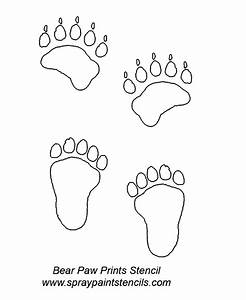 pin bear foot print colouring pages on pinterest With bear footprints template