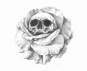 Dessin Tete De Mort Avec Rose : dessin artistique r aliste crane et rose tatoo pinterest dessin artistique realiste et roses ~ Melissatoandfro.com Idées de Décoration
