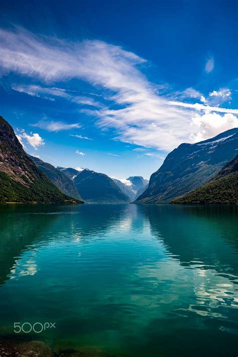 Lovatnet Lake Beautiful Nature Norway Beautiful Nature