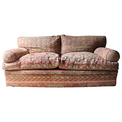 Good Quality Three Seat Kilim Upholstered Sofa By George