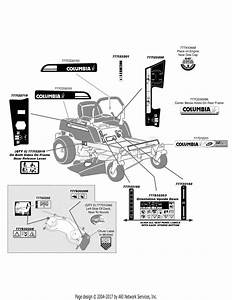 Mtd 17ak2acp897 Rzt50  2009  Parts Diagram For Label Map Rzt50
