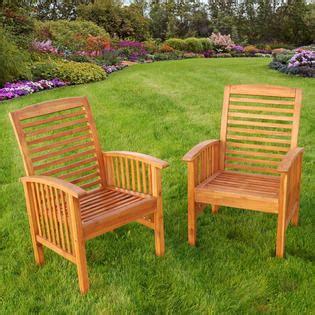 walker edison 4 acacia wood conversation set with