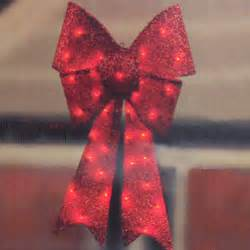 indoor outdoor lighted christmas bows 29 quot sparkly lighted red christmas bow american sale