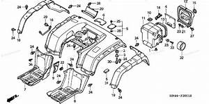 Honda Atv 2001 Oem Parts Diagram For Rear Fender  2