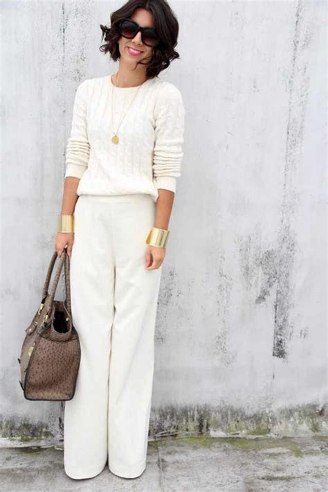 ways  wear clean white outfits  spring  pretty designs