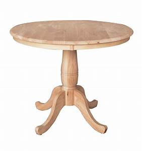 36 inch classic round table bare wood fine wood for 36 inch round wood coffee table