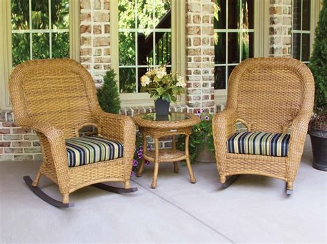 tortuga outdoor wicker 3 rocker and side