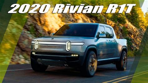 rivian rt  electric pickup truck unveiled youtube