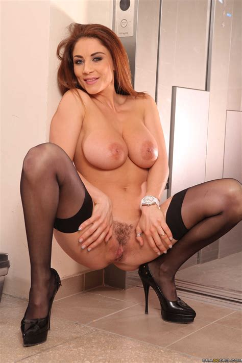 appetizing redhead roberta gemma treats us with her giant