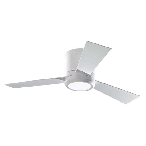shop monte carlo fan company clarity 42 in rubberized white flush mount indoor ceiling fan with