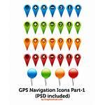 Icons Gps Navigation Map Graphicsfuel