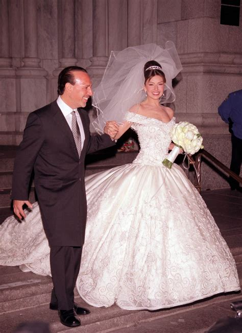Thalia Attends Her Wedding Ceremony To Tommy Mottola 2000