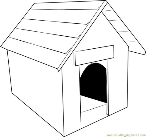 classic dog house coloring page  dog house coloring pages coloringpagescom
