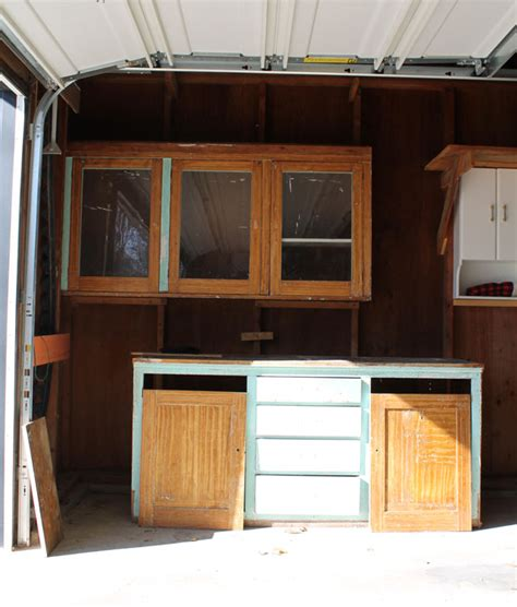 reuse kitchen cabinets in garage we to reuse the original kitchen cabinetry in our
