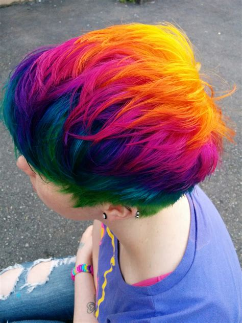 Rainbow Hair Rainbows Red Blue Green Orange Yellow Purple