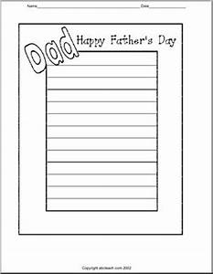Writing Paper: Happy Father's Day (Elementary) | abcteach