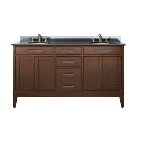 avanity madison 60 inch w double sink vanity in tobacco