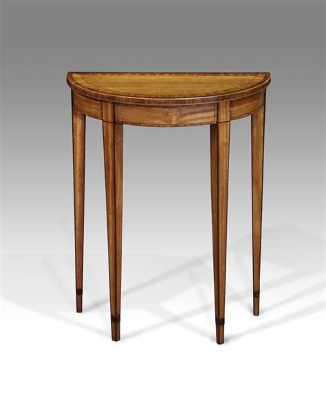 small console table ls small antique console table satinwood table demi lune