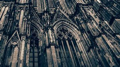 Cathedral Cologne Building Gothic Architecture Monochrome Facade