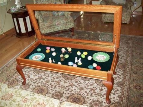 hand crafted curio coffee table  carl larson