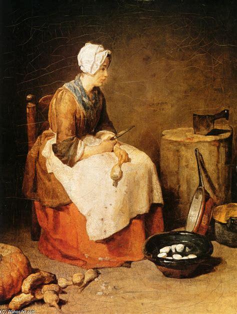 la cuisine des filles la fille de cuisine huile sur toile de jean baptiste