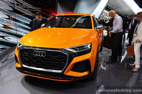 Audi Q8 Sport Concept Front At The 2017 Geneva Motor Show Live